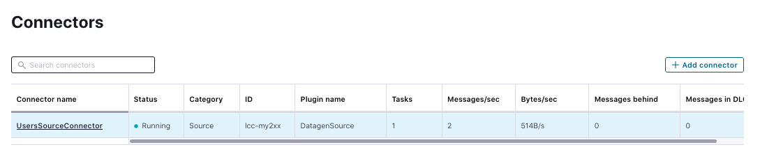 View the connector in the Confluent Cloud UI