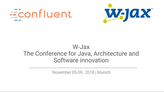 Book an appointment with the Kafka experts at W-Jax 2018 in Munich
