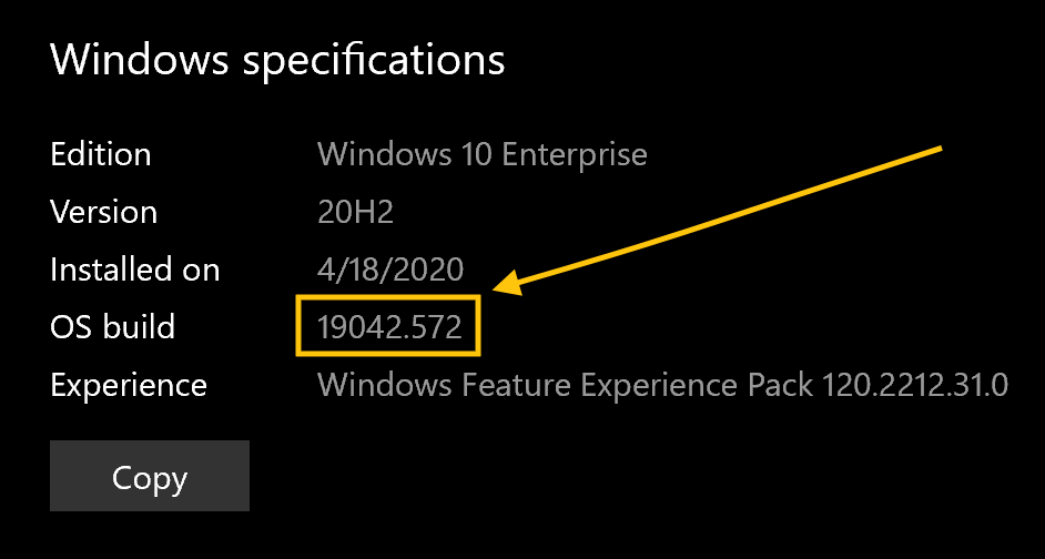 Windows specifications | Windows 10 Enterprise