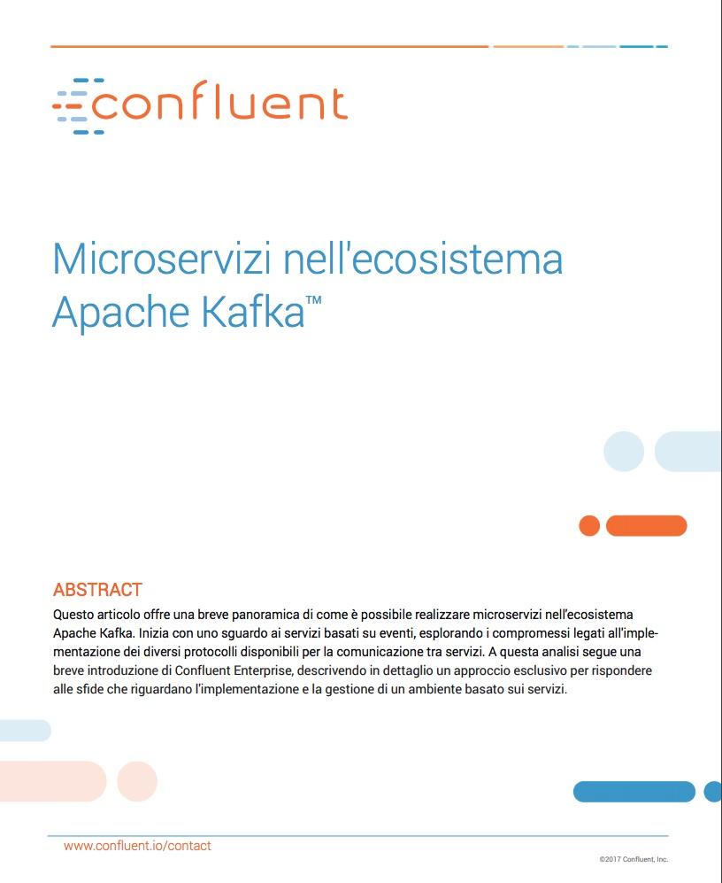 Creare microservizi nell'ecosistema Apache Kafka TM